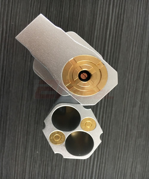 Revolver Style Dual Battery 18650 Full Mechanical Mod - Silver