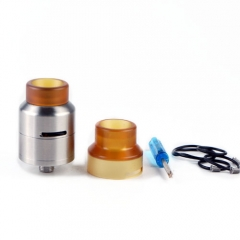GOON LP Styled RDA Rebuildable Dripping Atomizer with Extra Cap by SER - Silver