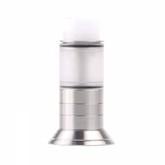 Origen Little Style Tank Bottom Feeding 316SS Atomizer with Beauty Ring by SER - Silver
