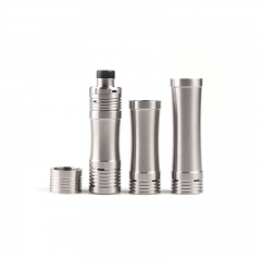 Original Vape-mods Adhoc Mini 18350/18500/18650 Mechanical Mod Set - Silver