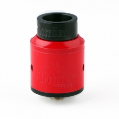 Lostart Goon Style 24mm Rebuildable Dripping Atomizer with Extra Wide Bore Drip Tip- Red
