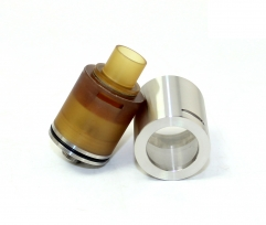 SXK KLS Style 316SS Bottom Feeding Squonker Rebuildable Dripping Atomizer - Silver