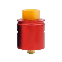 PT Style 24mm Rebuildable Dripping Atomizer w/Pei Drip Tip - Red