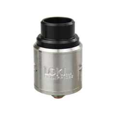 Loki Style 24mm Rebuidlable Dripping Atomizer  - Silver