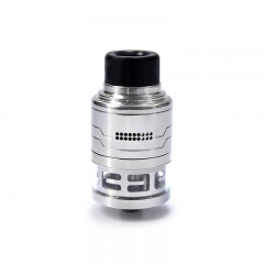 Authentic Hcigar Fodi 316SS RDTA 24mm Atomizer - Silver