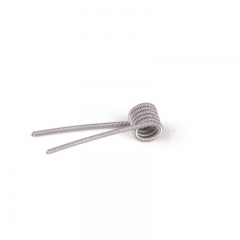 Prebuilt Clapton Coil 0.85ohm 26GA+32GA Heating Wire for Rebuildable Atomizers (10pcs) - Silver