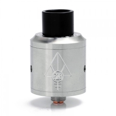 SJMY Goon 24mm Rebuildable Dripping Atomizer  w/ Wide Bore Drip Tip - Silver