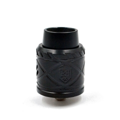 Royal Hunter X 24mm Stainless Steel Rebuildable Dripping Atomizer - Black