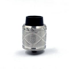 Royal Hunter X 24mm Stainless Steel Rebuildable Dripping Atomizer - Silver