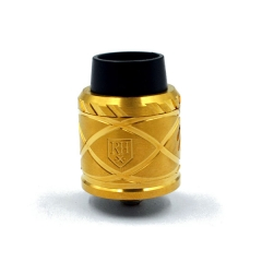Royal Hunter X 24mm Stainless Steel Rebuildable Dripping Atomizer - Brass