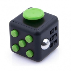 Stress Relieving Fidget Cube - Black Green