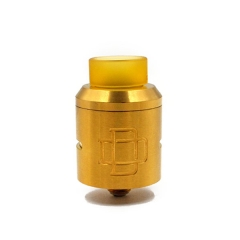 Druga Style 24mm CSS Rebuildable Dripping Atomizer w/ Extra Bottom Feeding Pin - Brass