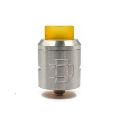 Druga Style 24mm CSS Rebuildable Dripping Atomizer w/ Extra Bottom Feeding Pin - Silver