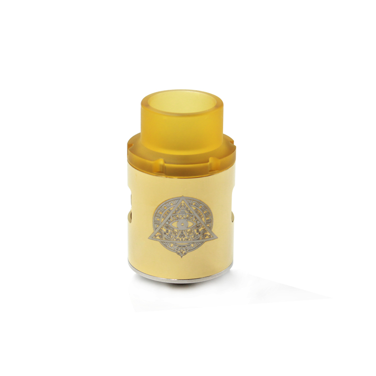 Pasiphae Style 24mm RDA Rebuildable Dripping Atomizer w/ PEI Drip Tip - Brass