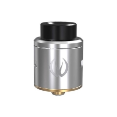 Authentic Vandy Vape ICON 24mm RDA Rebuildable Dripping Atomizer w/Bottom Feeding Pin- Silver