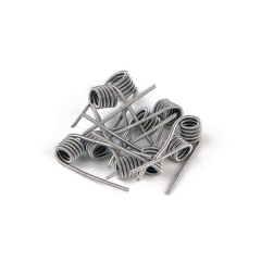 LTQ Kanthal A1 Clapton Coil Heating Wire 0.8ohm for Rebuildable Atomizers (10-Pack) - Silver
