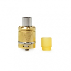 Vaux Style 24mm Rebuildable Dripping Atomizer w/ Pei Drip Tip- Brass