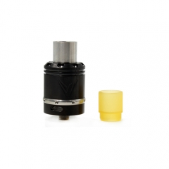 Vaux Style 24mm Rebuildable Dripping Atomizer w/ Pei Drip Tip- Black
