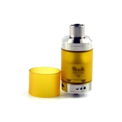 (Ships from Germany)Sherman Tank Style 28mm RTA 316SS Rebuildable Tank Atomizer - Silver