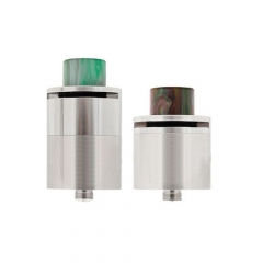 Omni Style 27mm Rebuildable Dripping Atomizer RDA - Silver