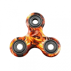 Tri- Spin Hand Spinner Focus Toy ABS EDC Every Day Carry - Brown