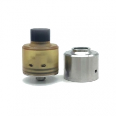 Hadaly Style 316SS Rebuildlable Dripping Atomizer w/ Extra Pei Cap Bottom Feeding RDA by SER - Silver