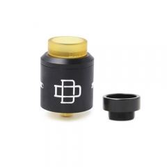 Druga Style Rebuildable Dripping Atomizer 24mm w/ Extra Bottom Feeding Pin - Black