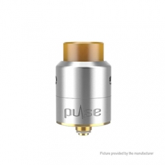 Authentic Vandy Vape Pulse 22mm RDA Rebuildable Dripping Atomizer w/ Extra Bottom Feeding - Silver