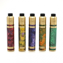 Authentic CoilART MAGE MECH 18650 Resin Brass Mechanical Mod Kit - Multicolor