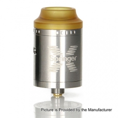 Springer X Style 24mm RDA Rebuildable Dripping Atomizer - Silver
