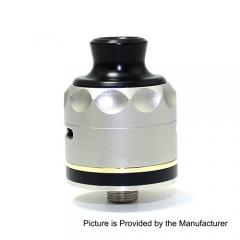 Resurrection V2 Style 316SS RDA Rebuildable Dripping Atomizer w/Bottom Feeding Pin by SXK (Triple Post Version)- Silver