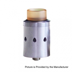 Authentic Cthulhu Ceto RDA 24mm Rebuildable Dripping Atomizer w/ Bottom Feeding Pin - Silver