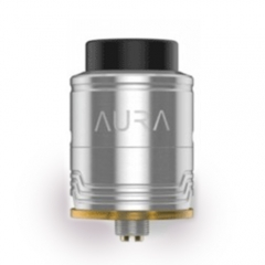 Authentic Digiflavor Aura 24mm RDA Rebuidlable Dripping Atomizer w/Bottom Feeding Pin - Silver