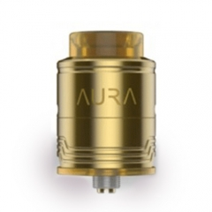 Authentic Digiflavor Aura 24mm RDA Rebuidlable Dripping Atomizer w/Bottom Feeding Pin - Gold