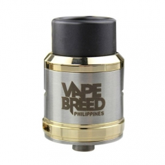 Vapebreed Atty V4 Style 24mm RDA Rebuildable Dripping Atomizer - Silver