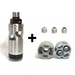 Ulton Emotion 316SS Style Rebuildable Tank 4.5ml Bonus Version w/Extra 2 Decks - Silver