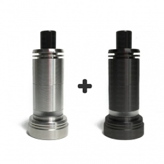 Ulton Das Tank Ding Style Rebuildable Tank Atomizer 6ml Edition with Logo - Black and Silver