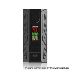Authentic Laisimo 200 Spider 200W TC VW Variable Wattage Box Mod - Black