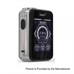 Smoant Charon TS 218 Touch Screen TC VW Variable Wattage Box Mod - Silver