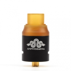 Amphisbaena Style 24mm RDA Rebuildable Dripping Atomizer - Black