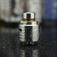 Authentic HCigar MAZE V4 316SS 24mm RDA Rebuildable Dripping Atomizer - Silver