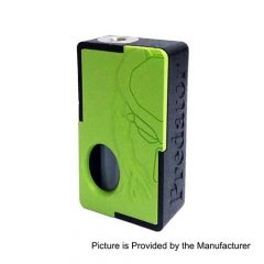 Authentic Yiloong Predator 3D Print BF Squonk 13ml Capacity Mechanical Box Mod - Black + Green