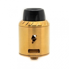 Authentic Ampus Screwless 24.5mm RDA Rebuildable Dripping Atomizer - Gold