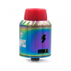 Authentic Ampus Screwless 24.5mm RDA Rebuildable Dripping Atomizer - Rainbow