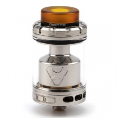 Authentic ADVKEN Manta 3ml/ 4.5ml RTA Rebuildable Tank Atomizer - Silver