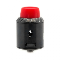 Authentic Ampus Screwless 24.5mm RDA Rebuildable Dripping Atomizer - Black