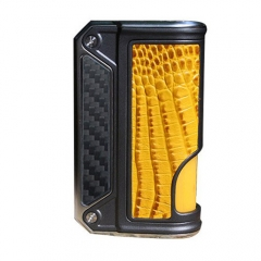 Authentic Lost Vape Therion BF Squonker DNA75C TC VW APV Box Mod - CF+ Yellow Crocodile