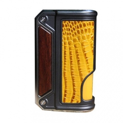 Authentic Lost Vape Therion BF Squonker DNA75C TC VW APV Box Mod - Wood + Yellow Crocodile