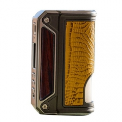 Authentic Lost Vape Therion BF Squonker DNA75C TC VW APV Box Mod - Wood+ Yellow Crocodile