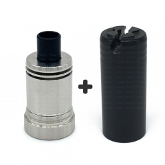Ulton Das Ding V3 Style RDA Rebuildable Dripping Atomizer w/ Bottom Feeding Pin and Tool Tube/ Logo - Silver